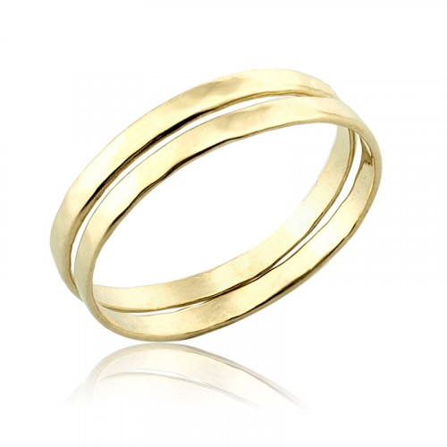 14K Gold Stack Rings