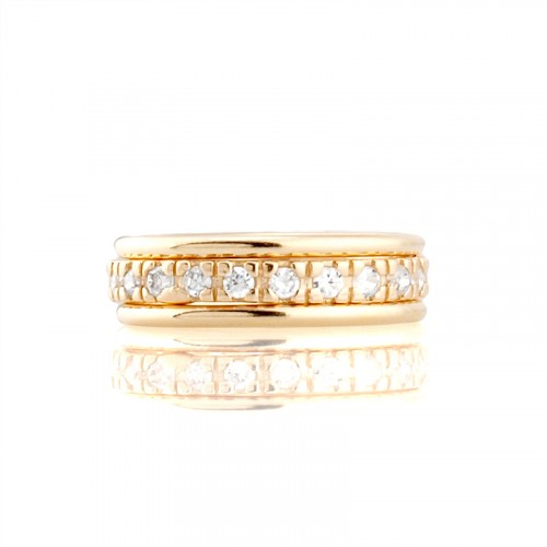 14K Gold Ring with Zircon
