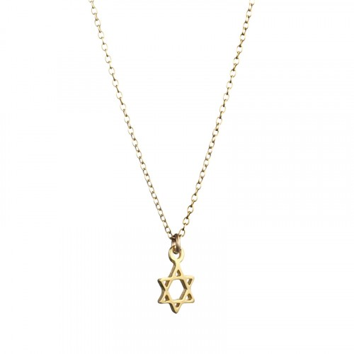 Gold Filled Star Of David Necklace