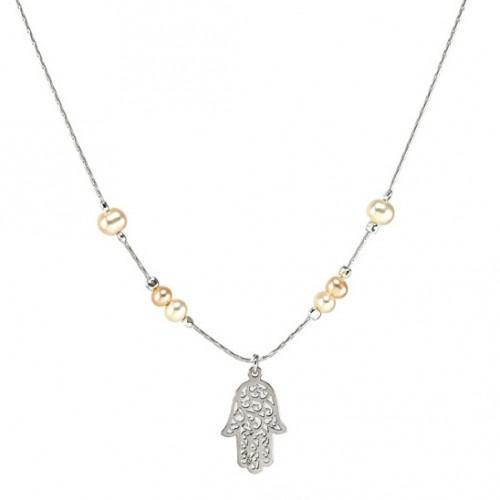 Silver Chamsa Necklace