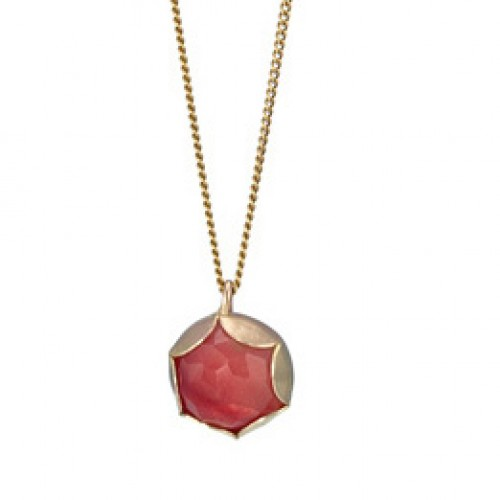 Goldfilled Necklace with Cherryquartz