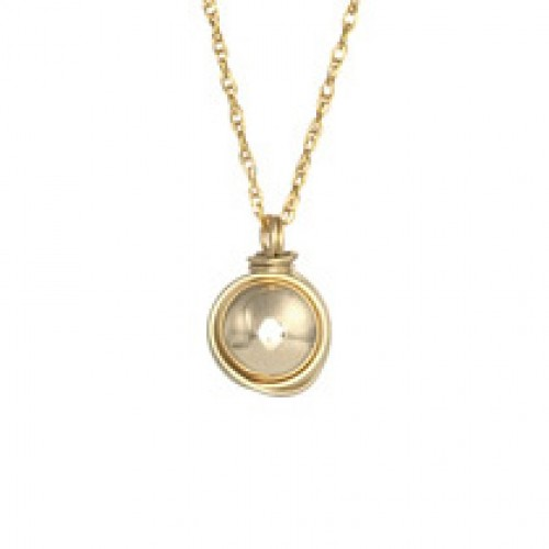 Gold Filled Necklace with Gold Filled Ball