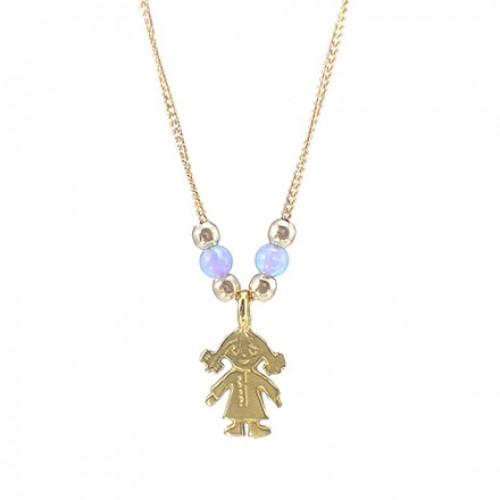 Goldfilled Necklace with Opal