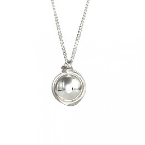 Silver Necklace with Silver Ball