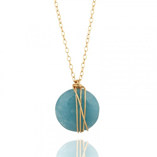 Gold filled necklace with Agate