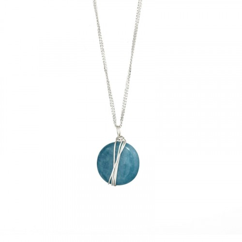 Silver Necklace with Agat