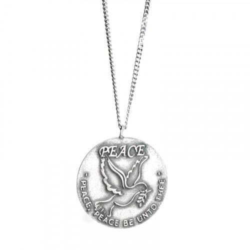 Dove Silver Coin Necklace