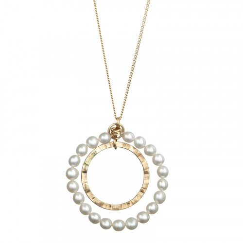 Gold Filled Necklace With Pearls