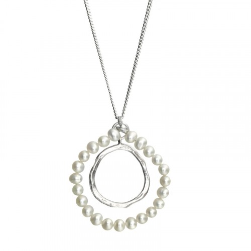 Silver Necklaces with Pearl
