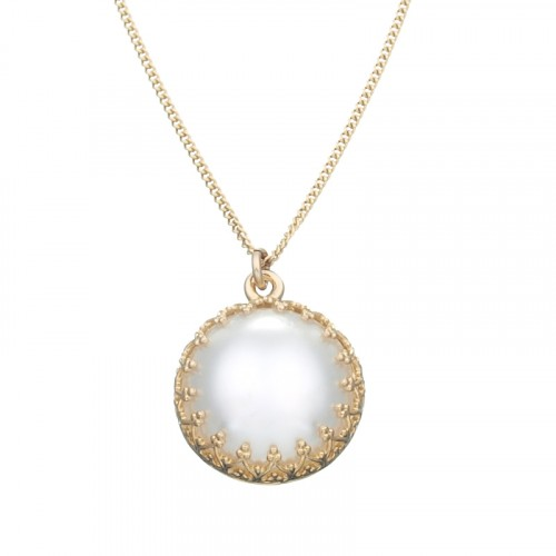 Israeli Jewelry Goldfilled necklace with pearl