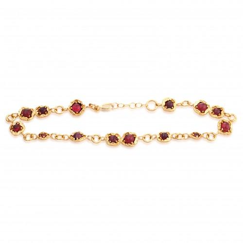 Vermeil Bracelet with Garnet