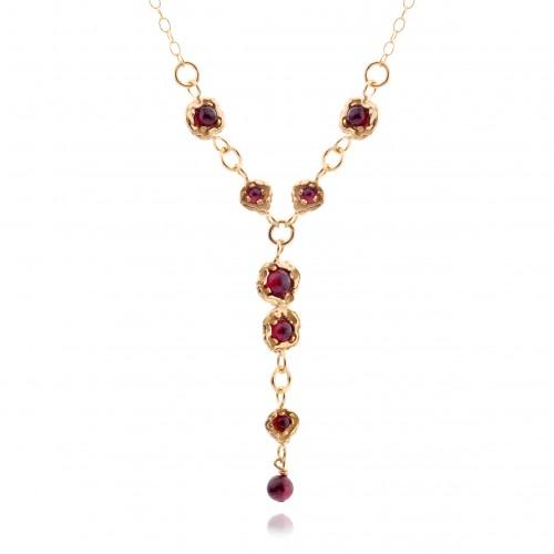 Vermeil Necklace with Garnet