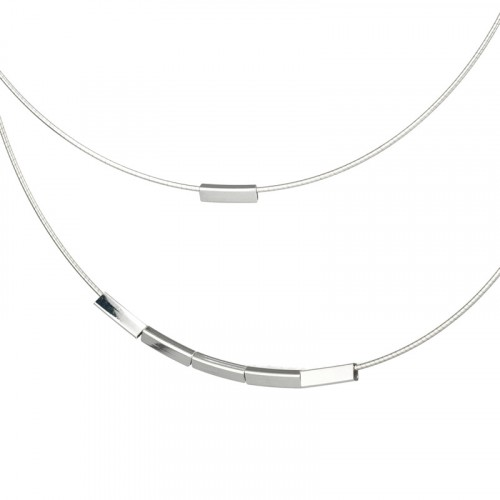 Dubble collar silver chain