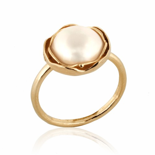 Gold Filled Ring with Pearl