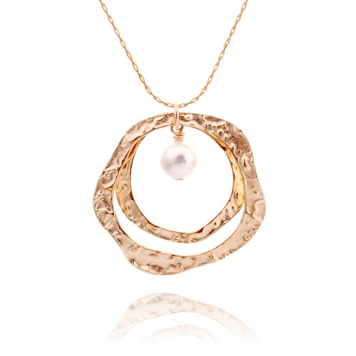 Gold Plated Necklace with Pearl