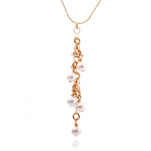 Gold Filled Necklace with Pearl