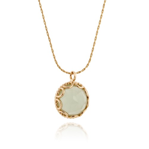 Gold Filled Necklace with Ocean