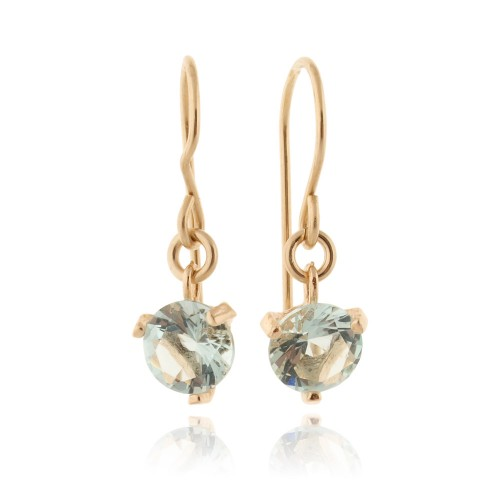 Gold Filled Earrings with Aquamarine