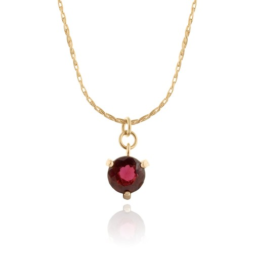 Gold Filled Necklace with Garnet