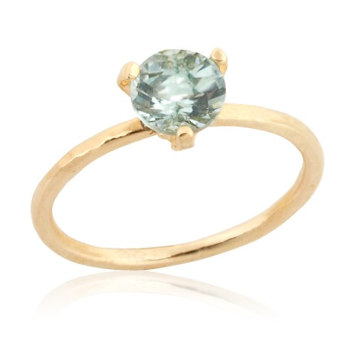 14K Gold Ring with Aquamarine