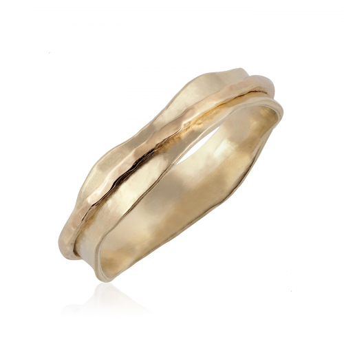 14K Gold Spinning Ring