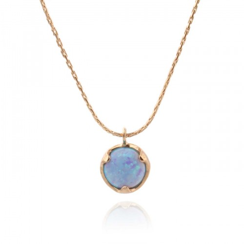Gold Filled Necklace with Opal