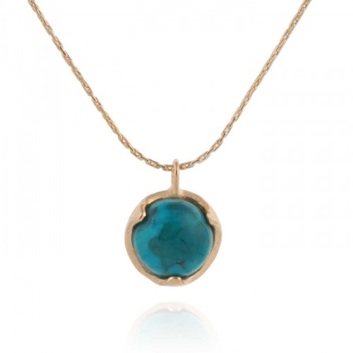 Gold Filled Necklace with Turquoize