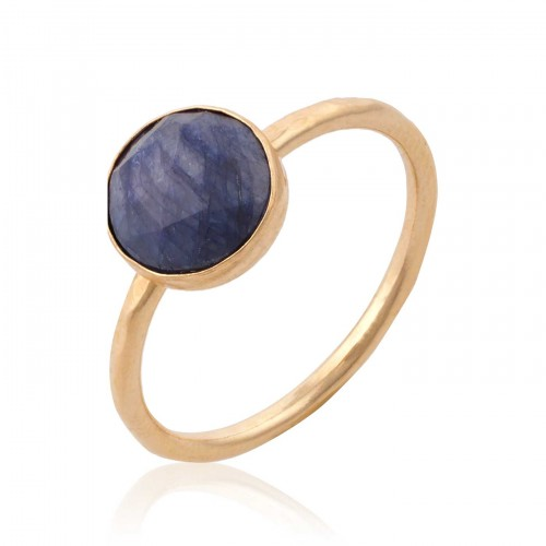 Gold Filled Ring with Sapphire