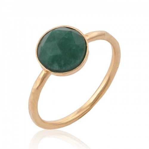 Gold Filled Ring with Emerald