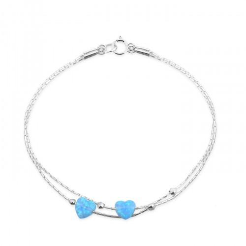 Silver Bracelet with Opal