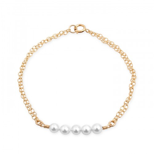Gold Filled Bracelet with Pearl