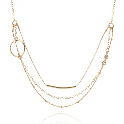Gold Filled Necklace with Zircon