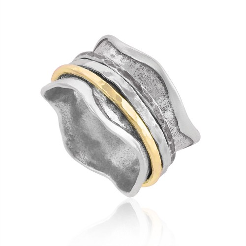 Silver and Gold Filled Spinning Ring