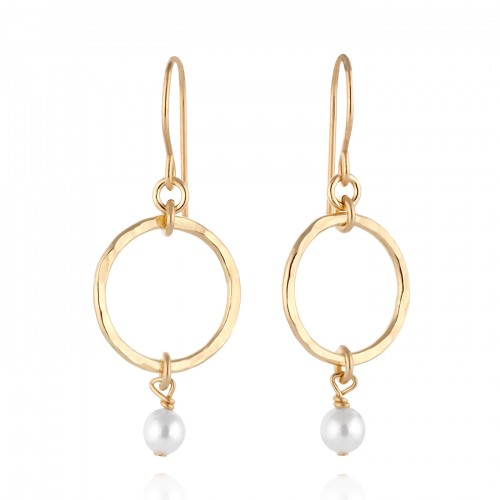 Gold Filled Earrings with Pearl