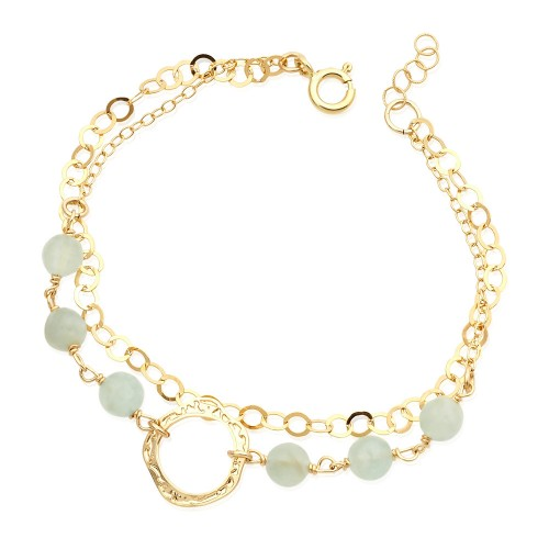 Gold Filled Bracelet with Aquamarine