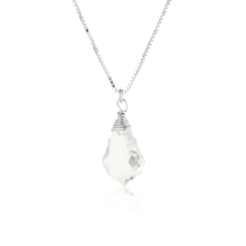 Silver Necklace with Swarovski