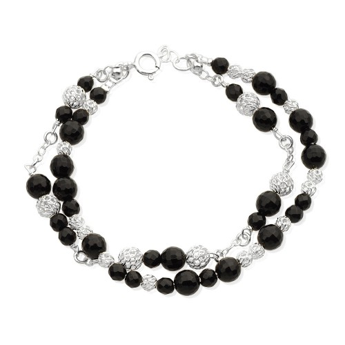Silver Brcelet with Onyx