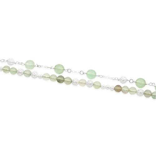 Silver Bracelet with Florite