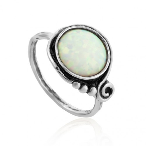 Silver Ring with Opal