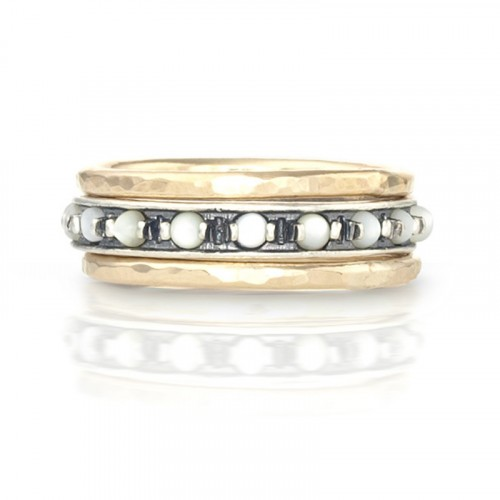 Silver, Pearls and Goldfilled Stack Rings