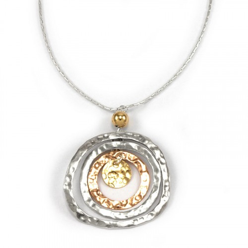 Silver Necklace with Goldfilled