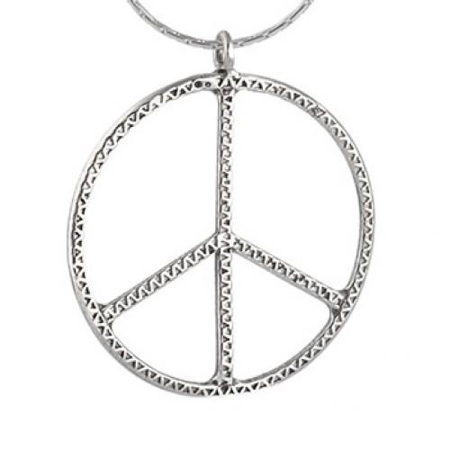 Silver Peace Necklace