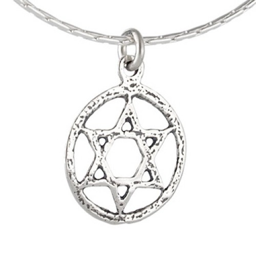 Silver Magen David Necklace