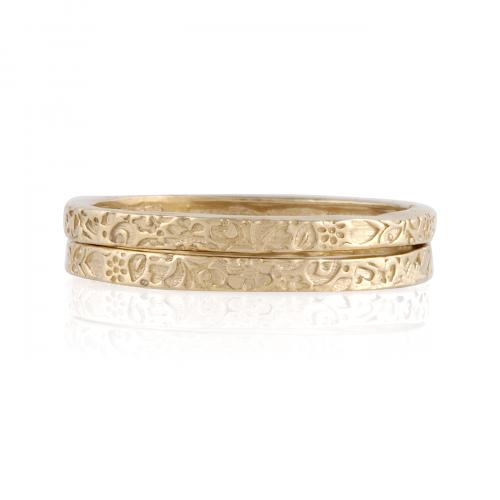 14K Gold Stack Rings