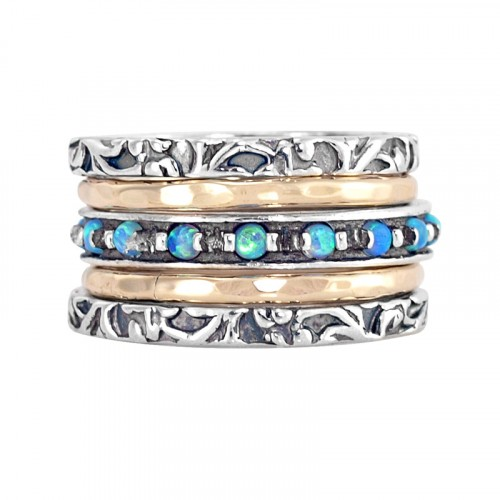 Silver and Goldfilled Stack Ring