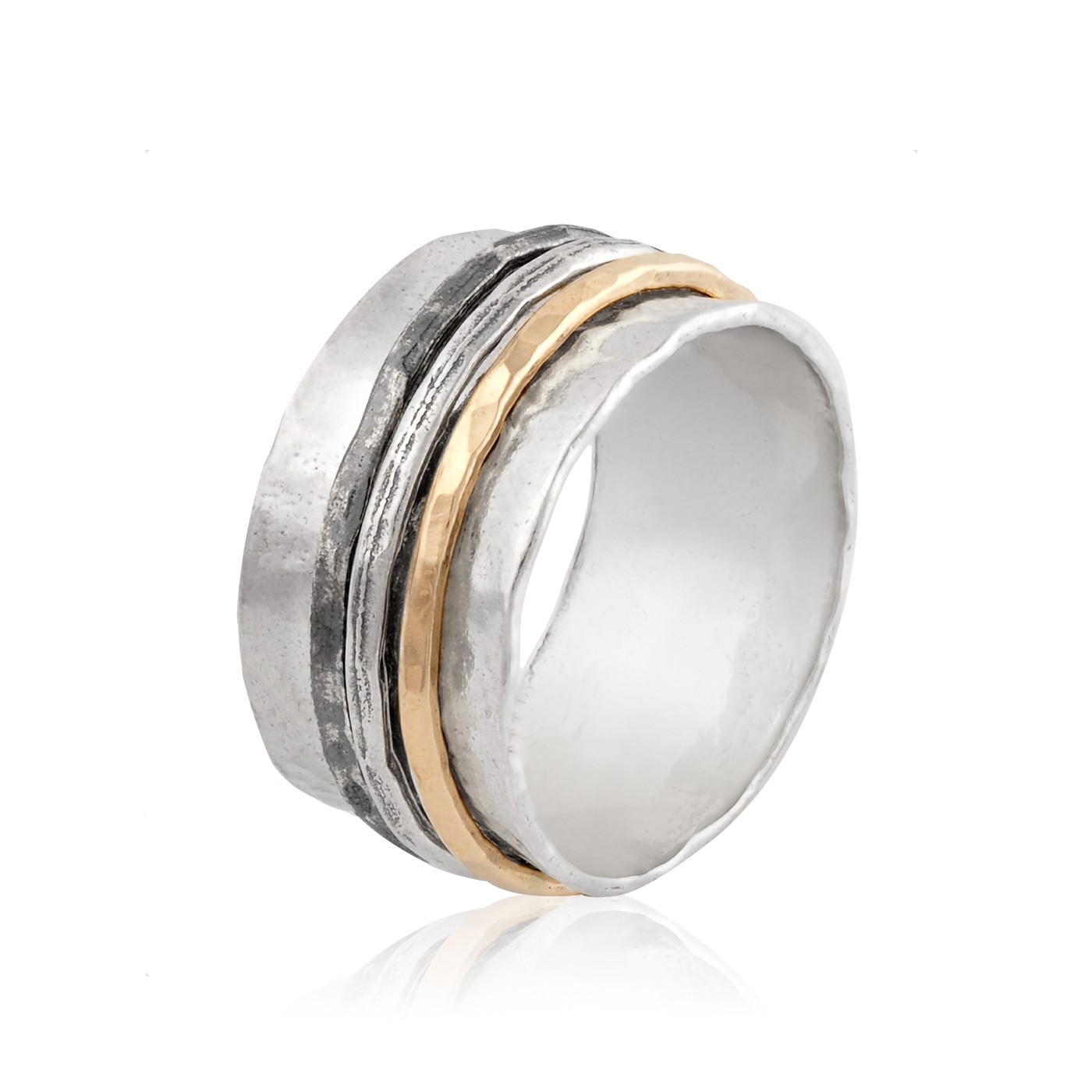 Silver And Gold Filled Spinning Ring Spinner Rings Rings